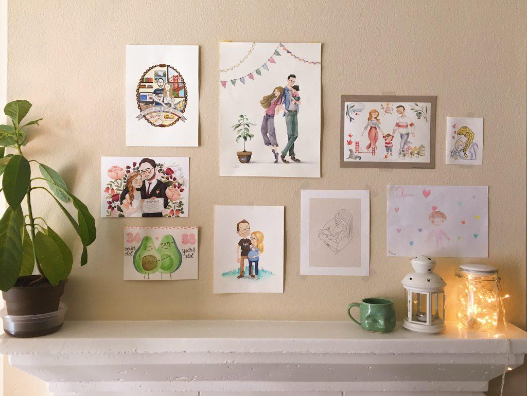 Ritratti personalizzati - parete - Dispacci da San Francisco - Viachesiva