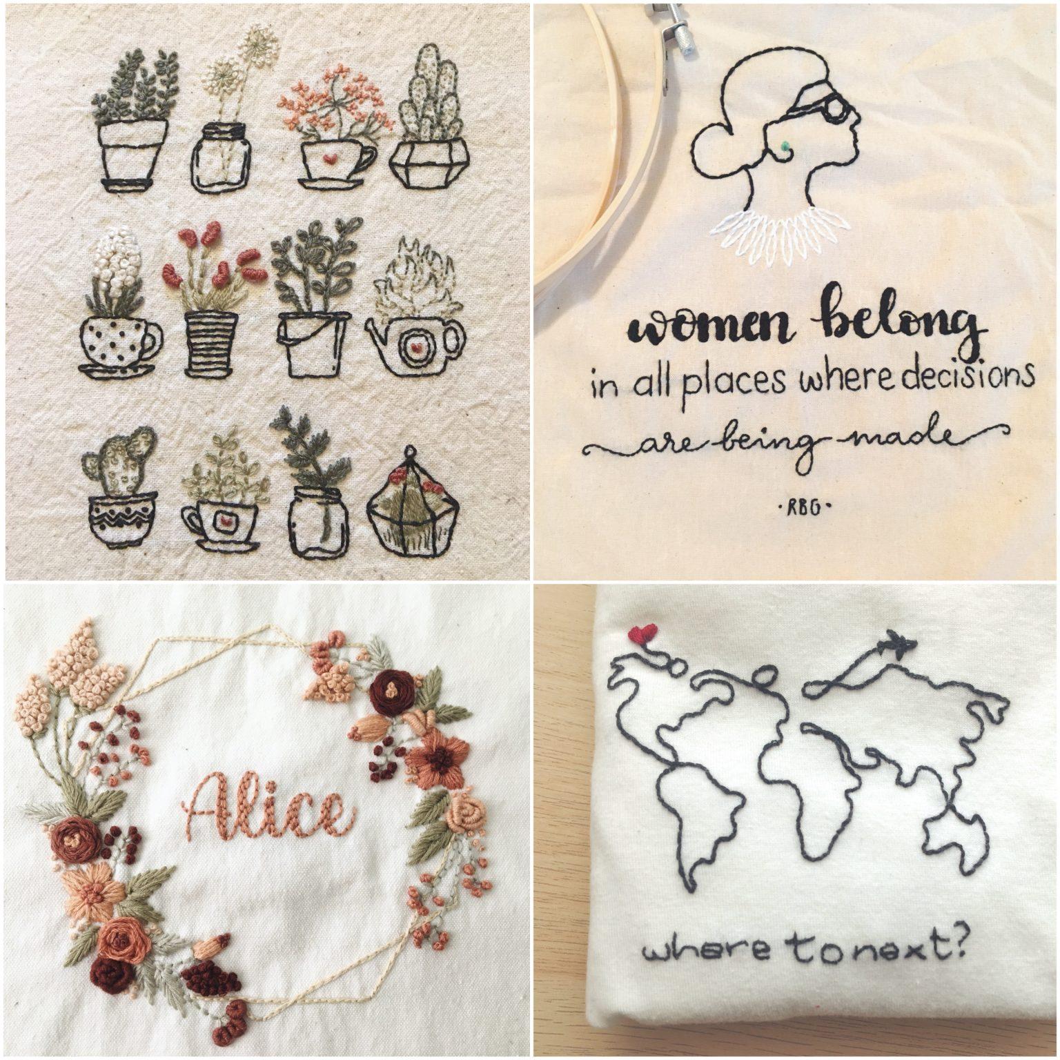 Imparare a ricamare - modern embroidery